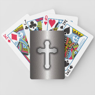 Christian Cross (Steel) Bicycle Playing Cards