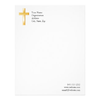 Christian Cross Symbol Letterhead Design
