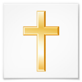 Christian Cross Symbol Photo Print