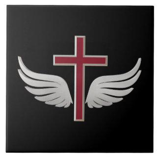 Christian cross tile