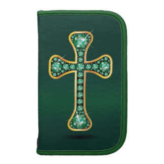 Christian Cross with Emerald Stones Planners