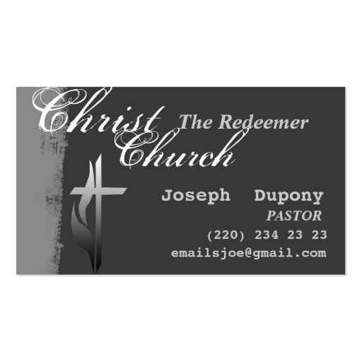 Christian Cross with Flame Business Card
