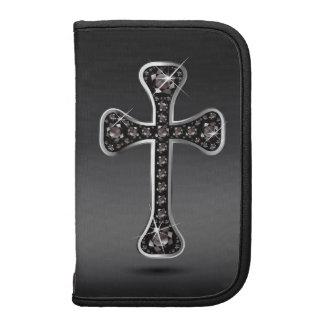 "Christian Cross with ""Onyx"" Stones Folio Planner"