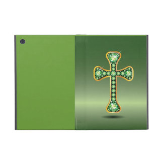 "Christian Cross with ""Peridot"" Stones Case For iPad Mini"