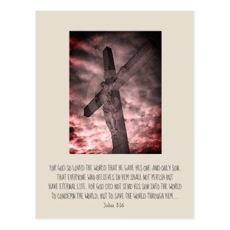 Christian customisable card, John 3:16 Postcard