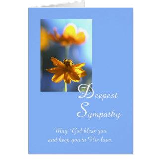 Christian Deepest Sympathy Flower Card