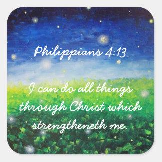 Christian Faith All Things Through Christ Sticker