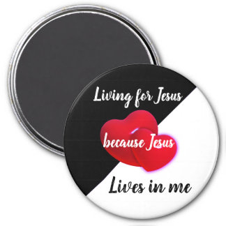 Christian Faith Magnet | Jesus lives in me