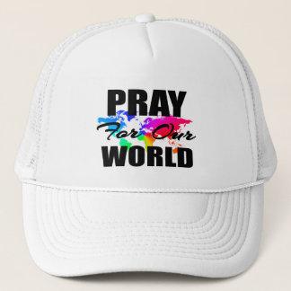 Christian Faith World Prayer- Pray For Our World Trucker Hat