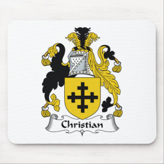 Christian Family Crest Mouse Pad