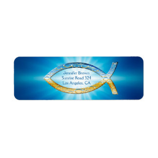 Christian Fish Address Label