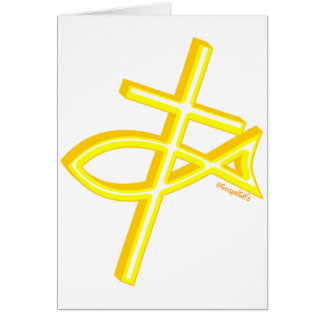 Christian Fish and cross gift design Cards