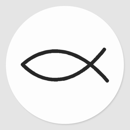 Christian Fish Classic Round Sticker