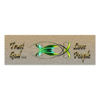 Christian Fish Profile Card Mini Business Card