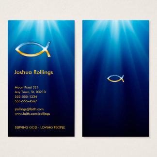 Christian Fish Symbol | Inspirational Business Card