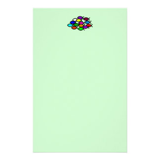 Christian Fish Symbols - Rainbow School - Customized Stationery