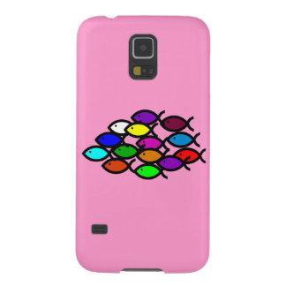 Christian Fish Symbols - Rainbow School - Galaxy S5 Cases