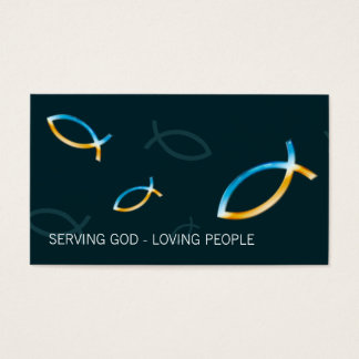 Christian Fishes Business Card