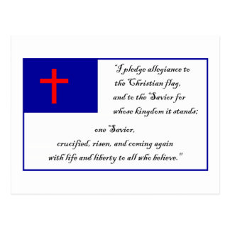Christian Flag and Pledge to the Christian Flag Postcard