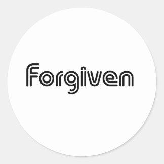 Christian Forgiven Design Classic Round Sticker