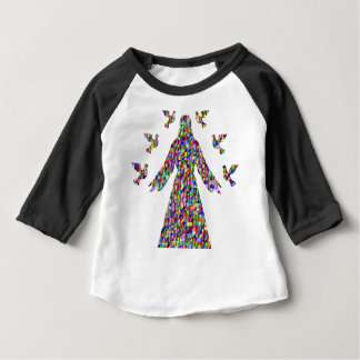 Christian gift Jesus and doves Baby T-Shirt