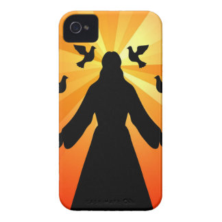 Christian gift Jesus and doves iPhone 4 Case