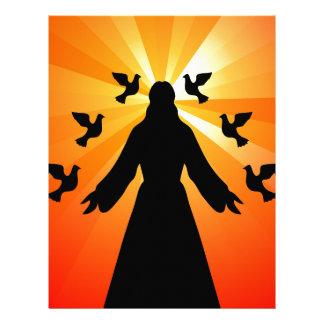Christian gift Jesus and doves Letterhead