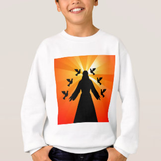 Christian gift Jesus and doves Sweatshirt