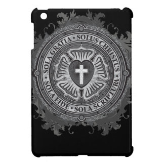 Christian Gift Luther Rose J-rose-black-background iPad Mini Cases