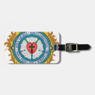Christian Gift Luther Rose Jesus Cross God Angels Luggage Tag