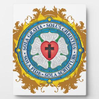 Christian Gift Luther Rose Jesus Cross God Angels Plaque
