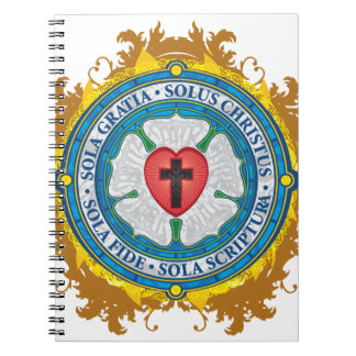 Christian Gift Luther Rose Jesus Cross God Angels Spiral Notebook