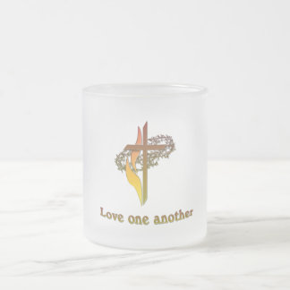 Christian gifts 10 oz frosted glass coffee mug