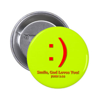 Christian God Love's You 2 Inch Round Button