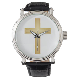 Christian Gold Cross Wristwatches