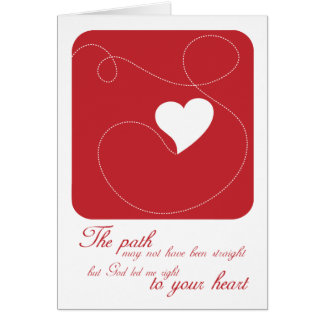 Christian greeting card: The Path to Your Heart Card