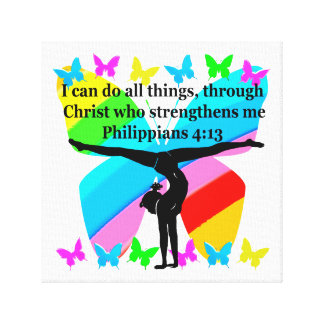 CHRISTIAN GYMNAST INSPIRATIONAL BIBLE DESIGN CANVAS PRINT