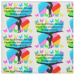 CHRISTIAN GYMNAST INSPIRATIONAL BIBLE DESIGN FABRIC