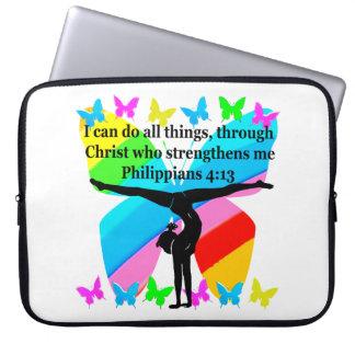 CHRISTIAN GYMNAST INSPIRATIONAL BIBLE DESIGN LAPTOP SLEEVES