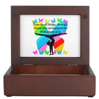 CHRISTIAN GYMNAST INSPIRATIONAL BIBLE DESIGN MEMORY BOX