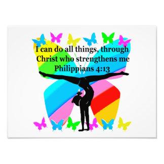 CHRISTIAN GYMNAST INSPIRATIONAL BIBLE DESIGN PHOTO PRINT