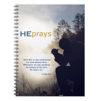 Christian HE PRAYS Notebook