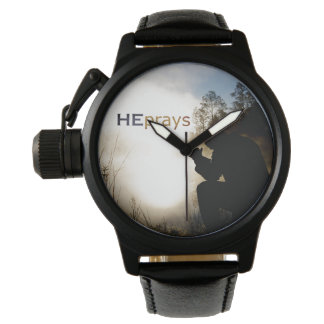 Christian HE PRAYS Wrist Watch