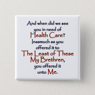 Christian Health Care 2 Inch Square Button