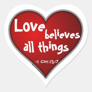 Christian Heart Shaped Heart Sticker
