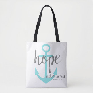 Christian Hope Anchors the Soul Bible Verse Tote Bag