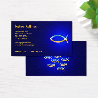 Christian | Ichtus Symbol Business Card