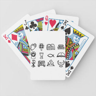 Christian Icon Set Bicycle Playing Cards