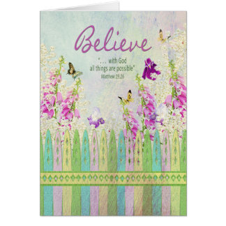 Christian Inspirational - All things are Possible Card