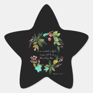 Christian Inspirational Art - Genesis 1:27-28 Star Sticker